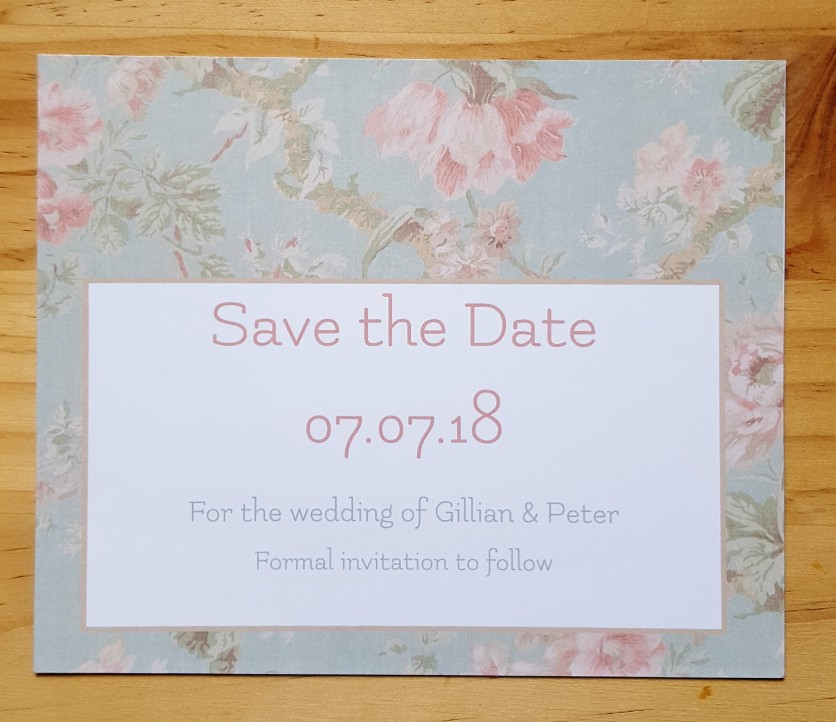 Vintage Save the date 2