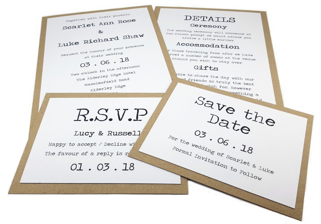 Typewriter Wedding Stationery